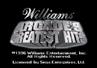 Williams Arcade's Greatest Hits on sega