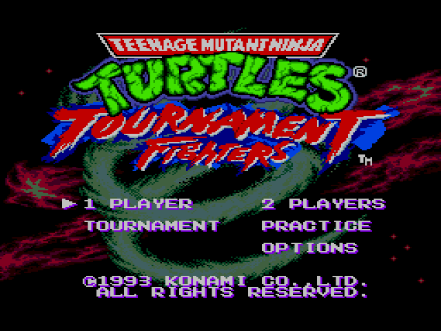 Teenage Mutant Ninja Turtles - Tournament Fighters on sega