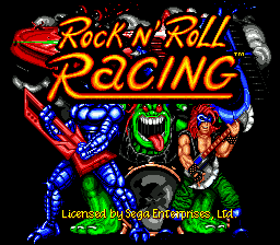 Rock n' Roll Racing on sega