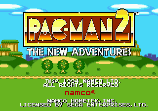 Pac-Man 2 - The New Adventures on sega