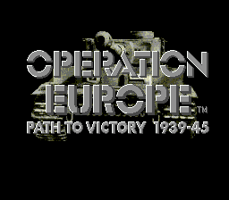 Operation Europe - Path to Victory 1939-45 on sega