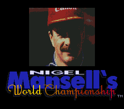 Nigel Mansell's World Championship Racing on sega