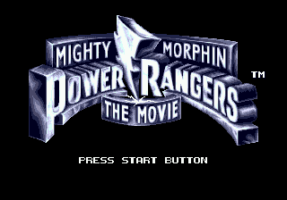 Mighty Morphin Power Rangers - The Movie on sega