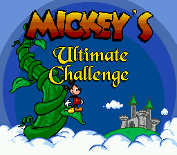 Mickey's Ultimate Challenge on sega