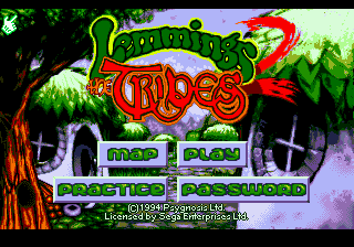 Lemmings 2 - The Tribes on sega