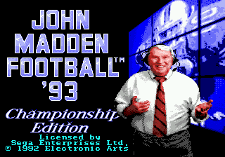 John Madden Football '93 - Championship Edition