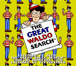 Great Waldo Search, The on sega