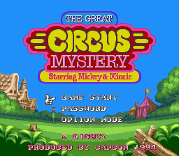 Great Circus Mystery Starring Mickey & Minnie, The on sega