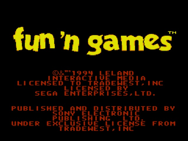 Fun 'N' Games on sega