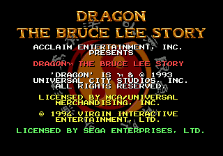 Dragon - The Bruce Lee Story on sega