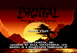 Brutal - Paws of Fury on sega