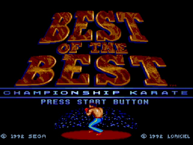 Best of the Best - Championship Karate on sega