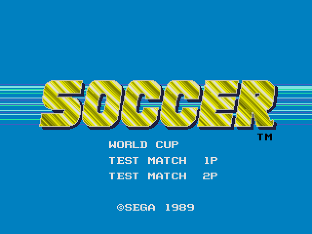 World Cup Soccer ~ World Championship Soccer (Japan, USA)