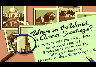 Where in the World Is Carmen Sandiego (USA, Europe) (En,Fr,De,Es,It)