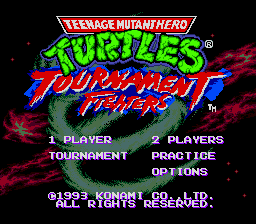 Teenage Mutant Hero Turtles - Tournament Fighters (Europe) on sega