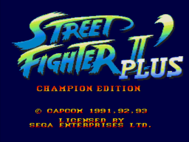 Street Fighter II' Plus (Japan, Asia)