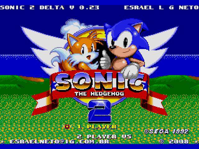 Sonic the Hedgehog 2 (World) (Beta) (Simon Wai) [Hack by Esrael v0.23] (~Sonic 2 Delta)