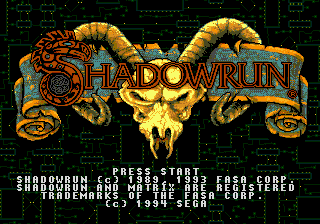 Shadowrun (Japan) on sega