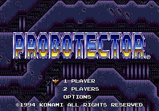 Probotector (Europe) on sega