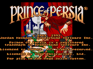 Prince of Persia (Europe) on sega