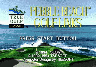 Pebble Beach Golf Links (Europe) on sega