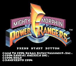 Mighty Morphin Power Rangers (Europe) on sega
