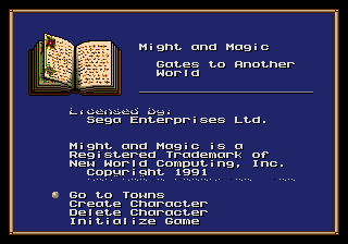 Might and Magic - Gates to Another World (USA, Europe)
