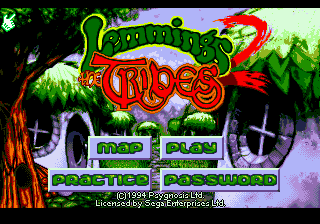 Lemmings 2 - The Tribes (Europe) on sega