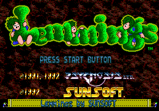 Lemmings (Japan) on sega