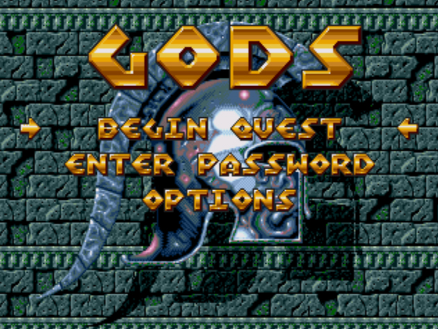 Gods (Europe) on sega