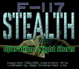 F-117 Stealth - Operation Night Storm (Japan)