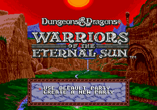 Dungeons & Dragons - Warriors of the Eternal Sun (USA, Europe)