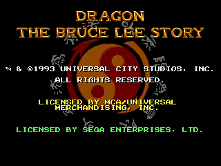 Dragon - The Bruce Lee Story (Europe) on sega