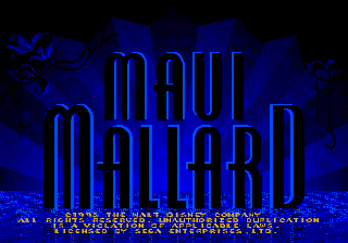 Donald in Maui Mallard (Europe) on sega