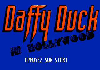 Daffy Duck in Hollywood (Europe) (En,Fr,De,Es,It) on sega