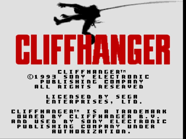 Cliffhanger (Europe) on sega