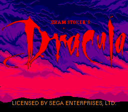 Bram Stoker's Dracula (Europe) on sega