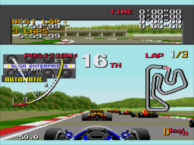 Ayrton Senna's Super Monaco GP II (Japan, Europe) (En,Ja)