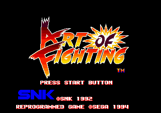 Art of Fighting (Europe) on sega