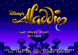 Aladdin (Japan) on sega