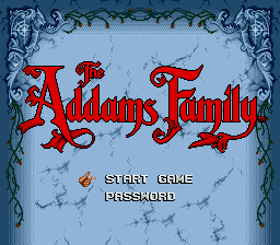 Addams Family, The (USA, Europe) Game