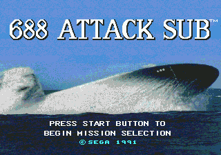 688 Attack Sub (USA, Europe) Game