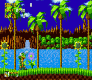 Vector the Crocodile in Sonic the Hedgehog Game