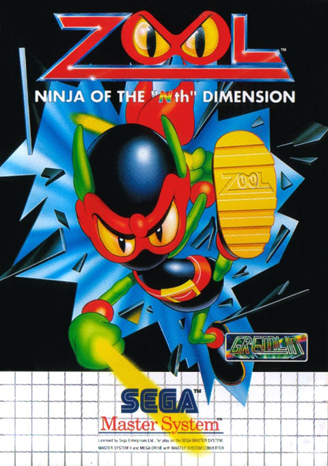 Zool - Ninja of the 'Nth' Dimension (Europe) on sms Game