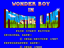 Wonder Boy in Monster Land (USA, Europe)