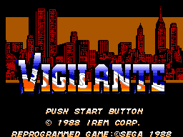Vigilante (USA, Europe) Game