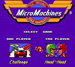 Micro Machines (Europe) on sms