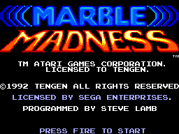 Marble Madness (Europe) on sms