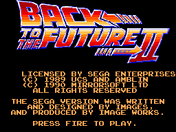 Back to the Future Part II (Europe)