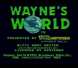 Wayne's World on snes